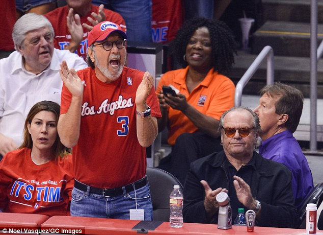 M'eh: Legendary Lakers fan Jack didn't looked all that thrilled to watch the Oklahoma City Thunder beat the Clippers 104-98