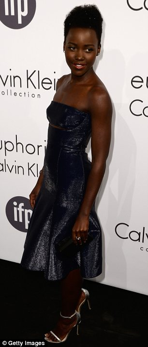 Always dressed to impress: Lupita was once again the best dressed person in the room as she attended the bash at the annual Film Festival
