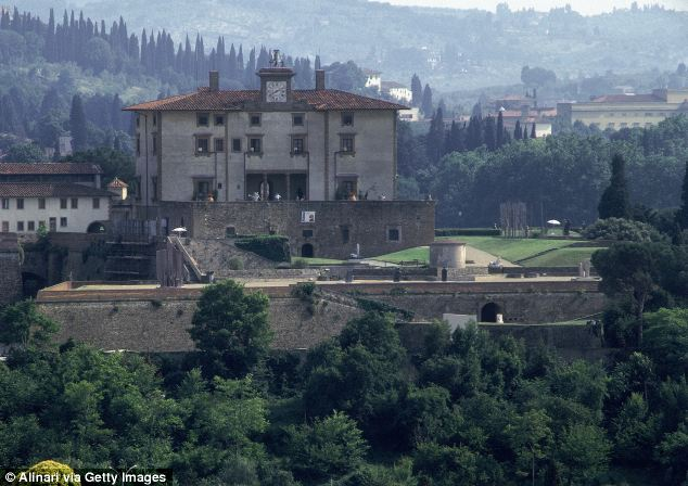 Historical landmark: Forte Belvedere, where Kim and Kanye plan to marry next weekend, was built in 1590 for the Grand Duke Ferdinando di Medici to protect the city and to demonstrate the power and wealth of the family