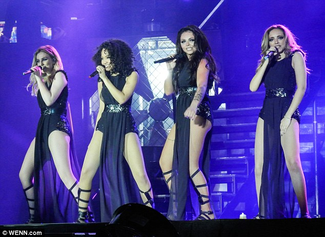 Little minxes: Little Mix were keen to show just how much they have grown up on the opening night of their UK tour in Birmingham on Friday