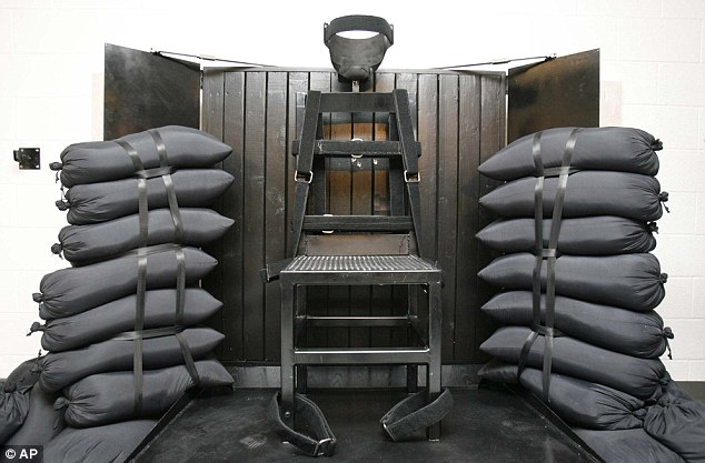 Fired: The firing squad execution chamber at the Utah State Prison in Draper, Utah, is shown. In the wake of a bungled execution in Oklahoma last month, a Utah lawmaker wants to resurrect firing squads as a method of execution in his state
