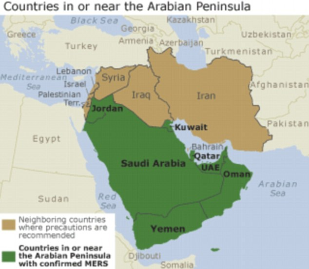 Up until now, the cases of MERS have been linked to countries in the Arabian Peninsula. This virus has spread from ill people to others through close contact, such as caring for or living with an infected person