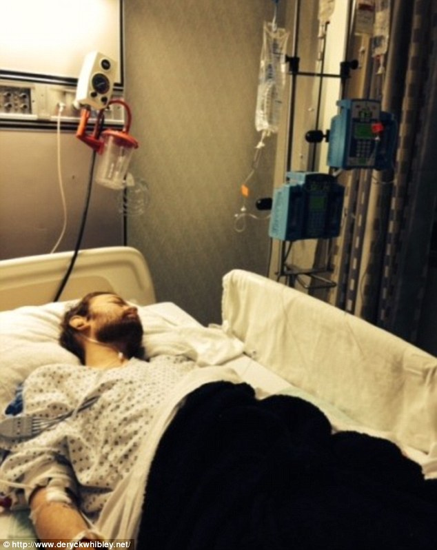 Emergency: Whibley was unconscious in hospital for a week after collapsing at home
