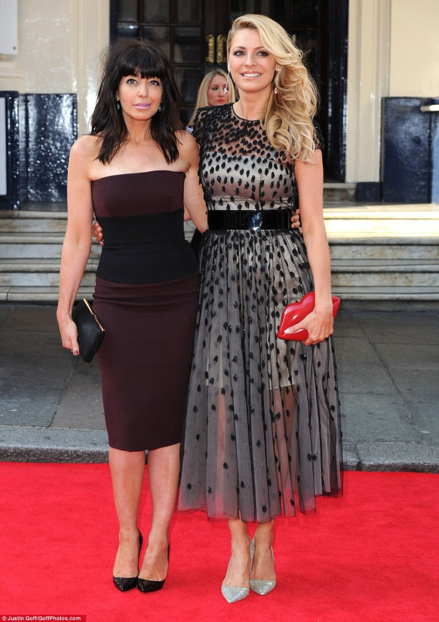 Strictly sidekicks: Tess Daly and her new Strictly Come Dancing co-host Claudia Winkleman arrive together in style at the BAFTA TV Awards 2014