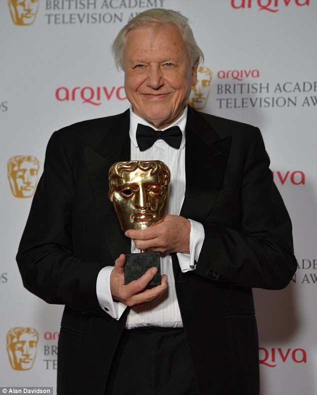 Brilliant broadcaster: The Specialist Factual award went to David Attenborough's Natural History Museum Alive