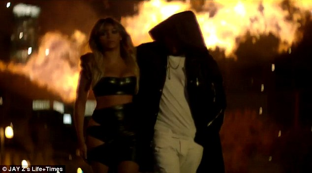 Crazy in love: In the video, the 99 Problems rapper plays a small time gangster who decides to go big and, in doing, so takes his love, played by Beyonce of course, into a dangerous world that could get them both killed