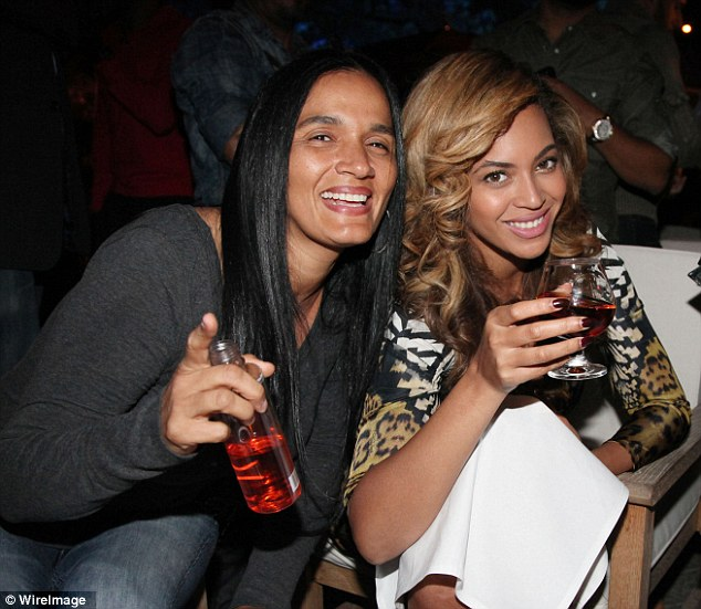Shady past: Desiree Perez parties with Beyonce. Perez, who was caught with 35 kilos of cocaine and spent time in jail, now rubs shoulders with some of the biggest celebs in the world