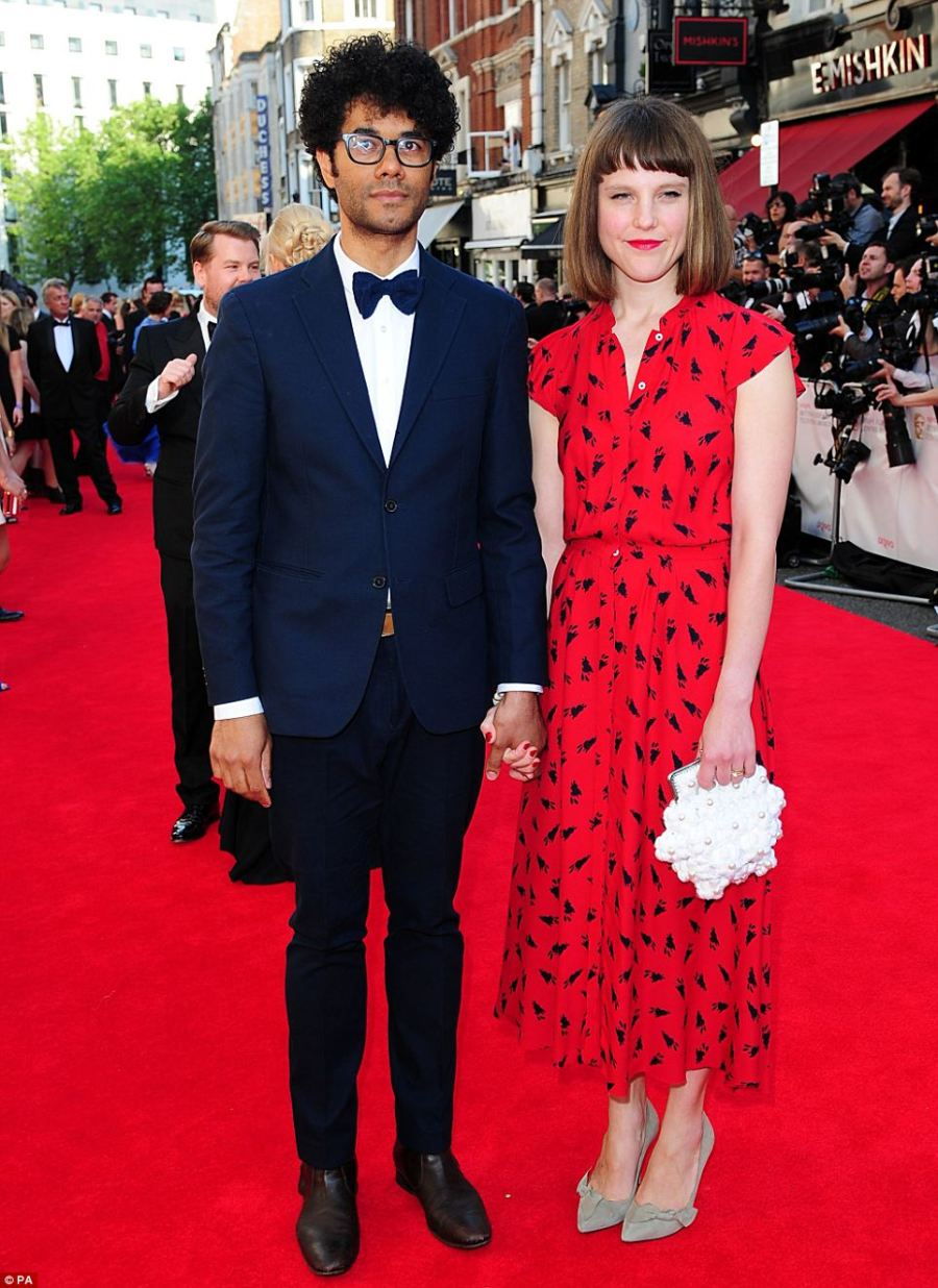 Smart: A dapper Richard Ayoade and an elegant Lydia Fox arriving for the 2014 Arqiva British Academy Television Awards