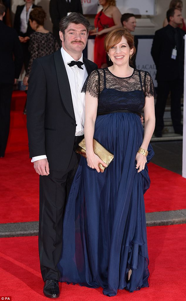 Star: Katherine Parkinson, who won an award for best female performance in a comedy role, attended the event alongside husband Harry Peacock