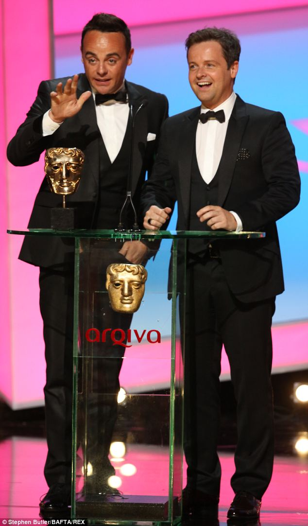 Winners: Ant and Dec collected gongs in the Entertainment Performance category