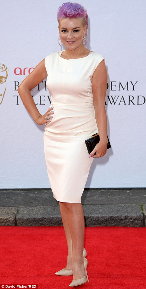 Top of the crops: Sheridan Smith had dyed her hair a punky purple