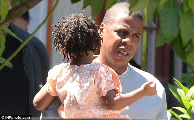 Me and my girl: Jay-Z was seen on Friday eating lunch with Blue Ivy