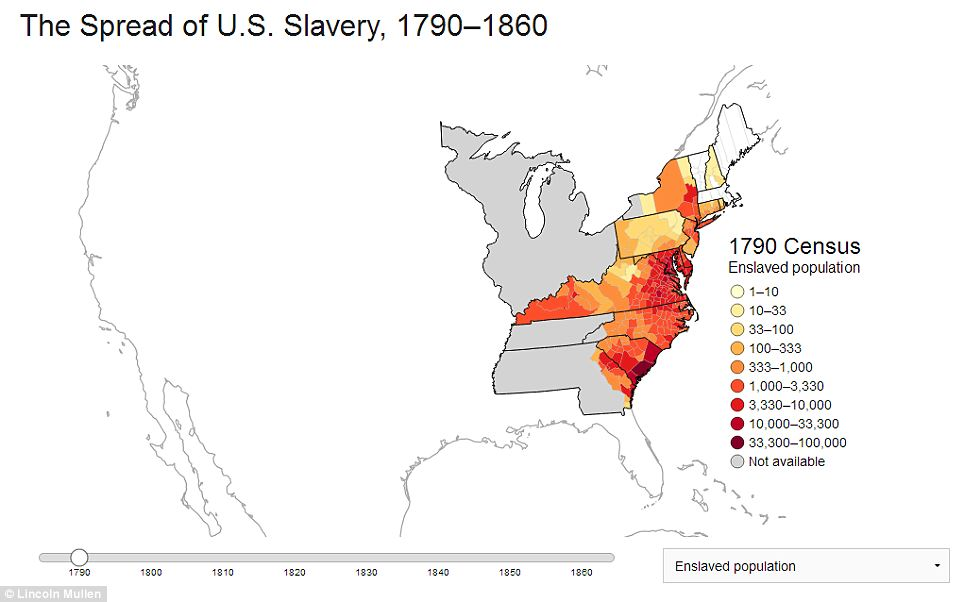The slaves who helped build a nation: Maps reveal the
