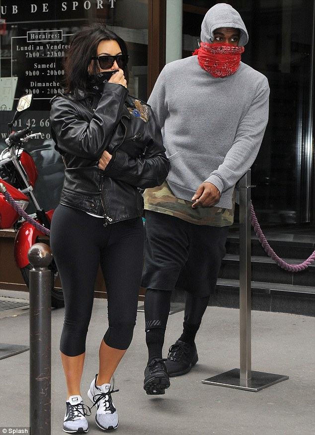 Wedding countdown: Earlier in the day Kim Kardashian and Kanye were spotted hitting the gym together