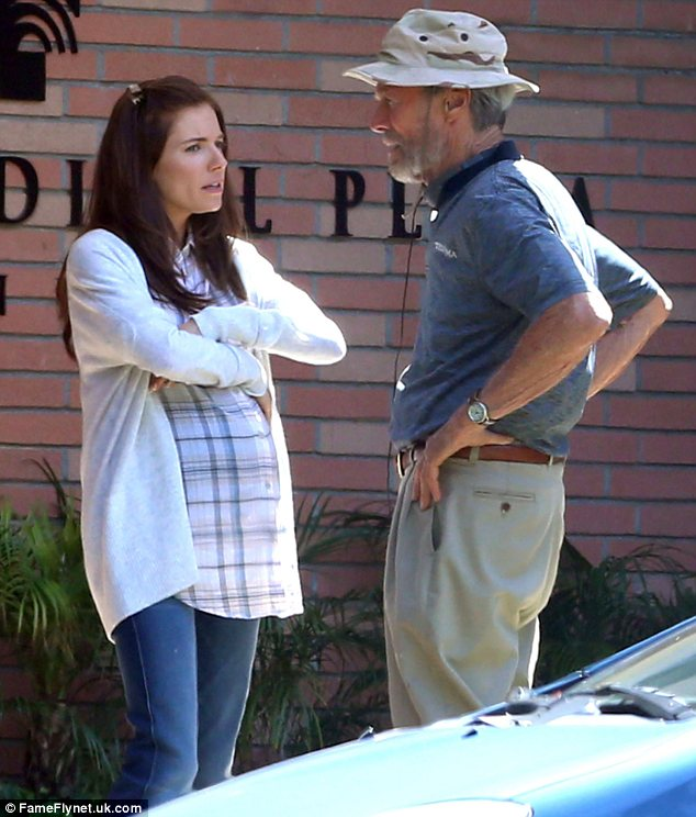 Learning from the master: Sienna went over some advice from director Clint Eastwood in between takes