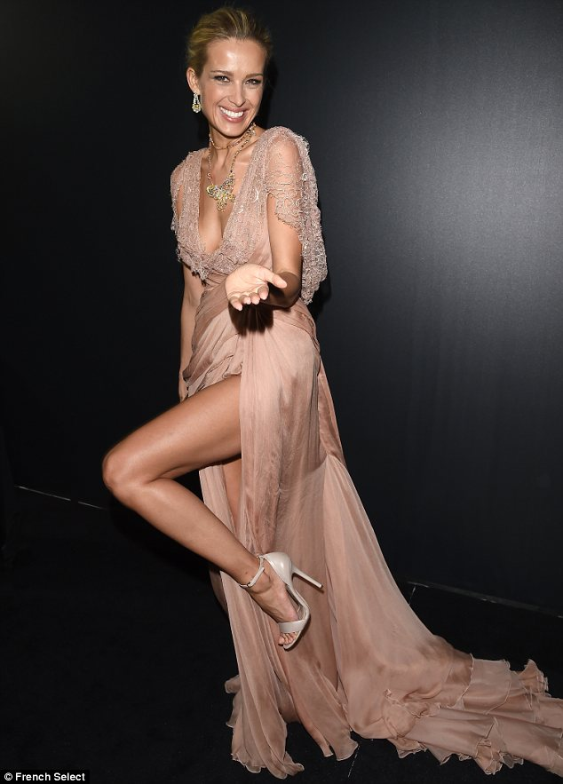 Legs 11: Petra Nemcova made sure to show off her tanned legs to their full advantage as she arrived at the bash