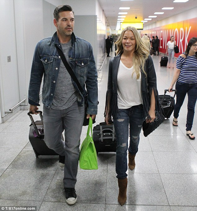 The other side: The couple touched down in New York later that day