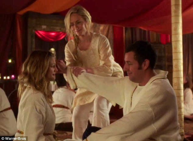 Talent: A scene from the film Blended with Adam and Drew with Actress Josette Eales
