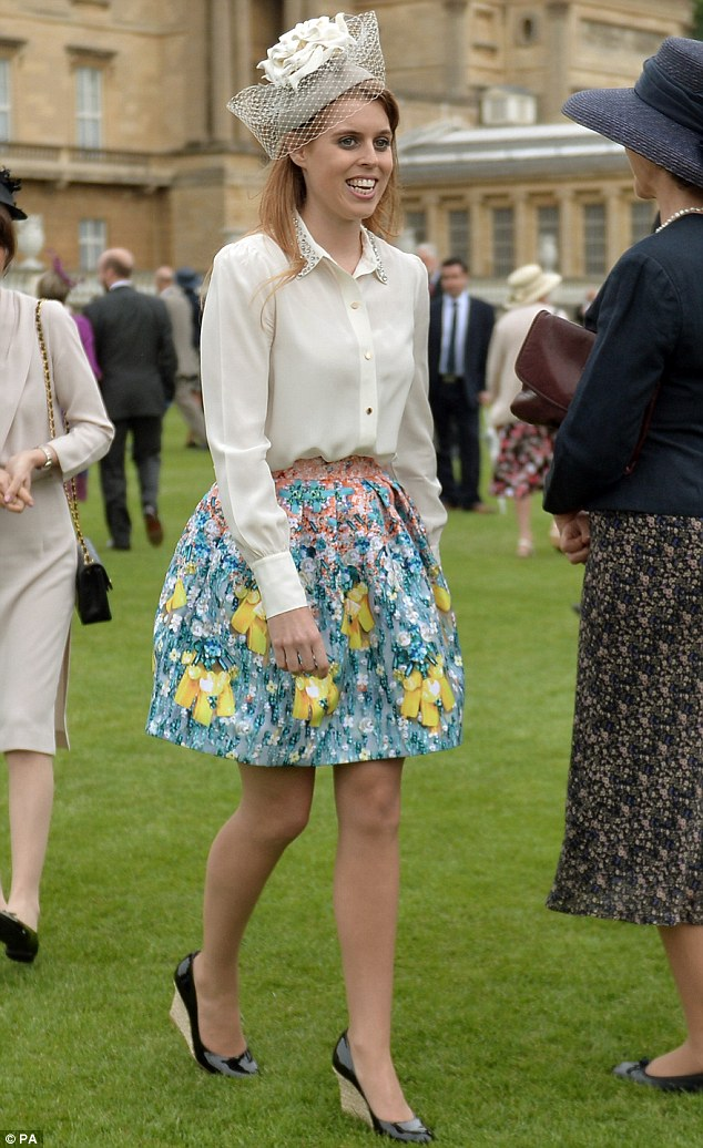 Princess Beatrice Attends Buckingham Palace Garden Party In Floral