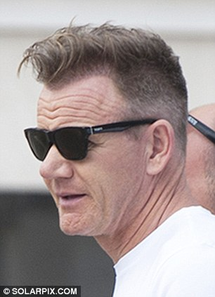 gordon ramsay gives new hairdo a second outing at wembley stadium daily mail online
