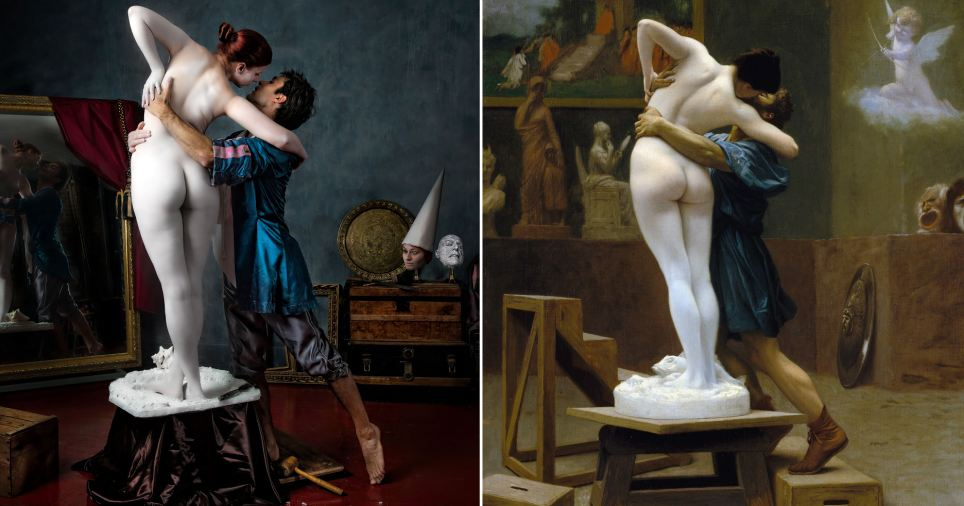 Pygmalion. Stunning masterpieces recreated