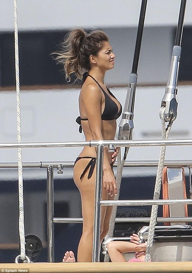 Nicole Scherzinger Wears A Black Bikini On Yacht In Monaco