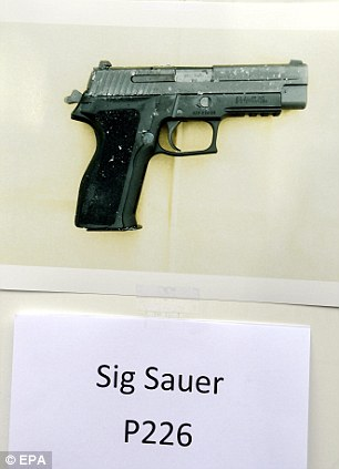 A Sig Sauer P226 gun which is similar to one used by Rodger