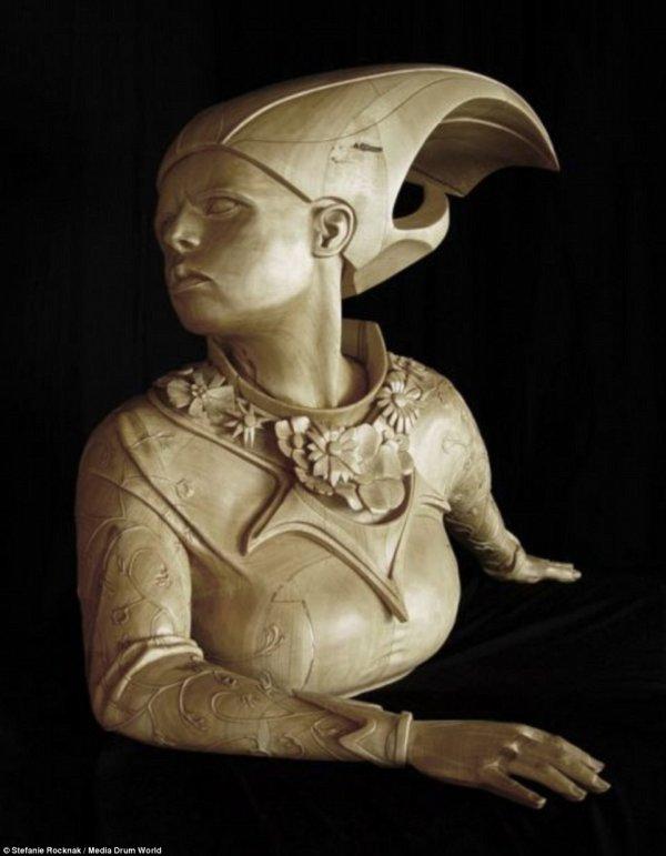 Michelangelo Wood Sculpture
