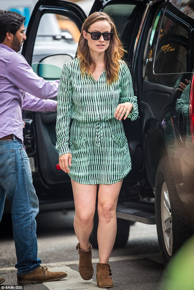 Olivia Wilde Shows Off Her Legs As She Takes Baby Otis Out