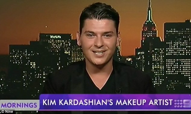 Make-up artist to the stars: Fresh off the plane from Florence, Mario told Channel Nine's mornings that despite the global audience he wasn't nervous about his very important role