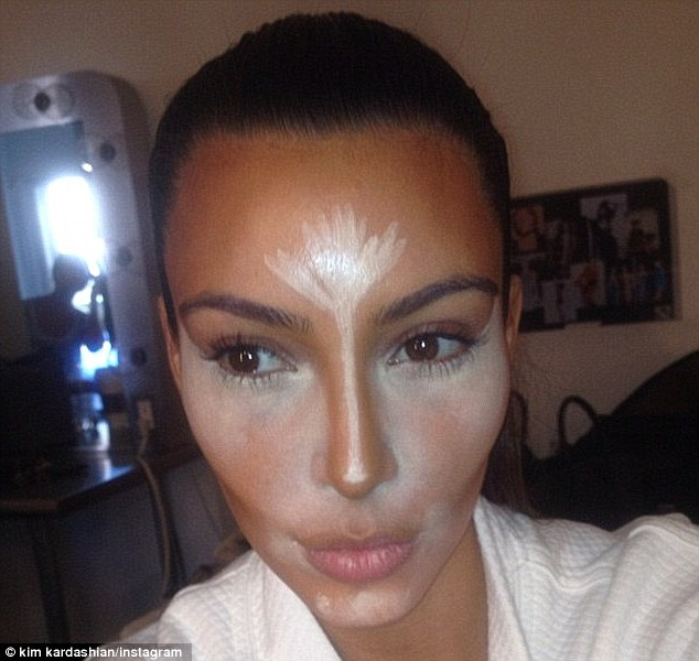 Contouring queen: Such a fan of contouring, Kim often takes to her Instagram to share her make-up secrets with her 14 million followers