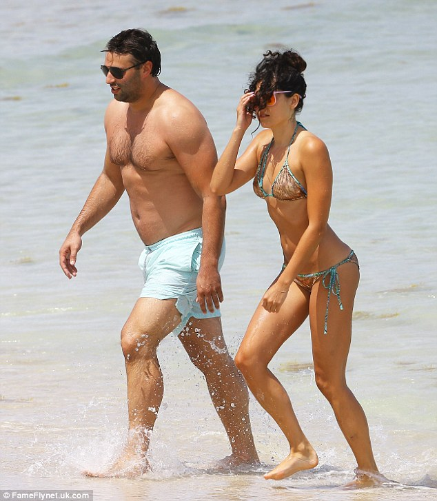 Miami living: Eliza Doolittle was back on the beach for a second day as she continued to lap up the sunshine on Wednesday