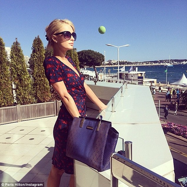 Cannes Film Festival: She Instagrammed this image on May 15, writing, 'Rocking my @phpursesglobal in #Cannes'
