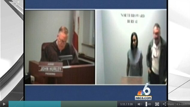 In court: The 46-year-old made her first court appearance Thursday while facing charges of second-degree murder
