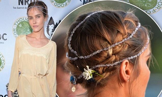 Isabel Lucas Steps Out In Self Designed Gemstone Headpiece