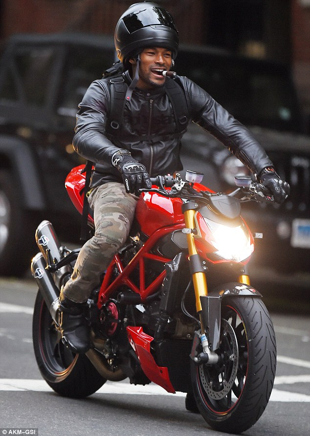 Cute Girl Smoking Wallpaper Tyson Beckford Puffs On Cigar While Riding Motorbike In