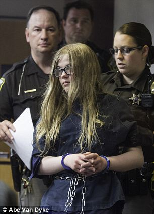 Charged as adults: Morgan Geyser (left) and Anissa Weier (right), both 12,  face 65 years in prison after admitting to police that they stabbed a friend, hoping to kill her so they could join the cult of the 'Slender Man'