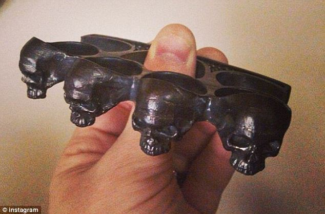 Violent? Matt Geyser posted this photo of skull knuckles with the caption 'I think I'd like these'