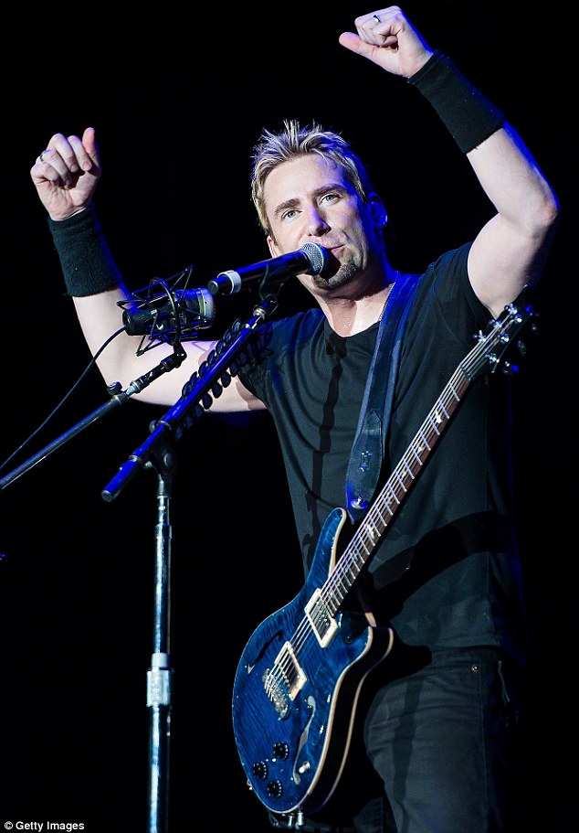 Water under the bridge? Nickelback's lead singer Chad Kroeger, pictured in September 2013 - with whom it was reported Miranda nearly had a bar fight in 2010
