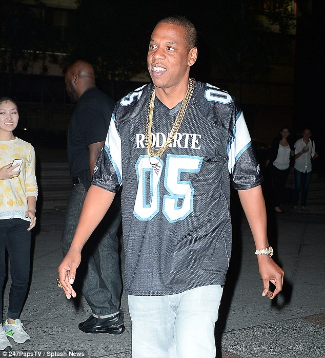 Designer: He wore a Rodarte sports jersey, jeans and black boots