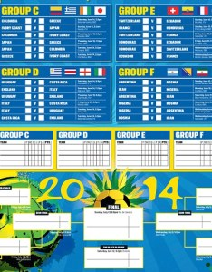 World cup wallchart also guide print off your brilliant for brazil rh dailymail