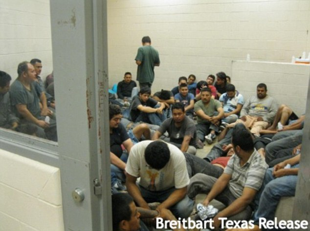 Photos leaked Thursday from a U.S. Border Patrol facility in the Rio Grande Valley show overflowing holding facilities of immigrants, many of whom are children