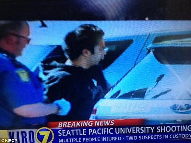 KIRO-TV reports that this is believed to be the gunman who opened fire Thursday afternoon. The shooter was subdued by students and held until police arrived