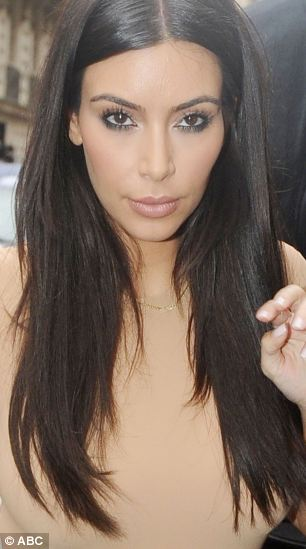 The real Kim Kardashian attends a dinner date in Paris earlier this year