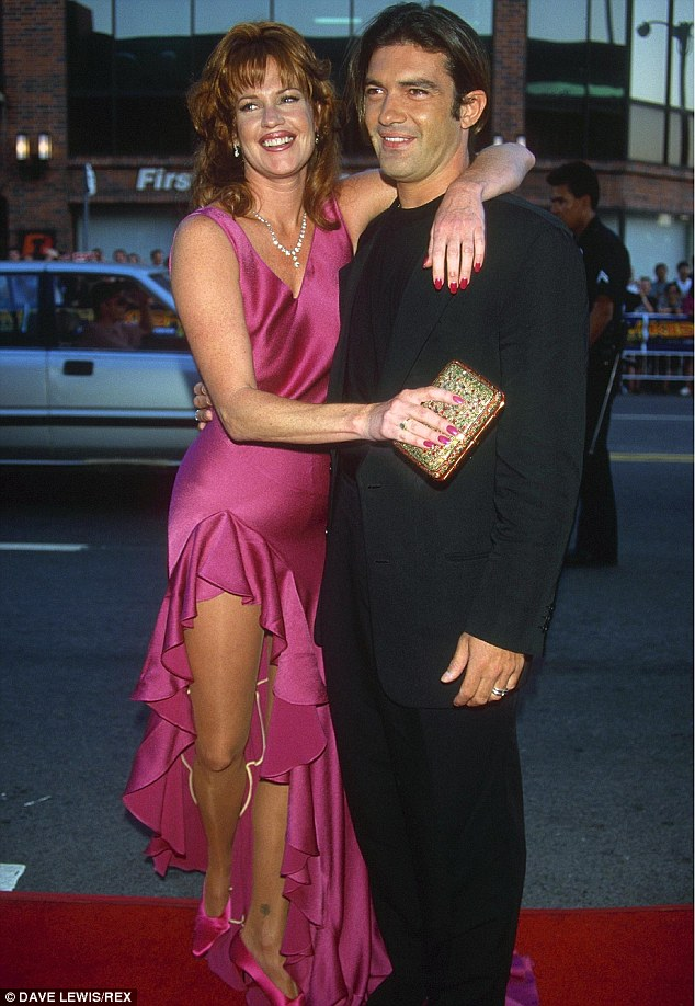 'They gave us six months': As Antonio has explained, the pair - here at the premiere of Desperado in 1995 - were pretty much written off at the very beginning