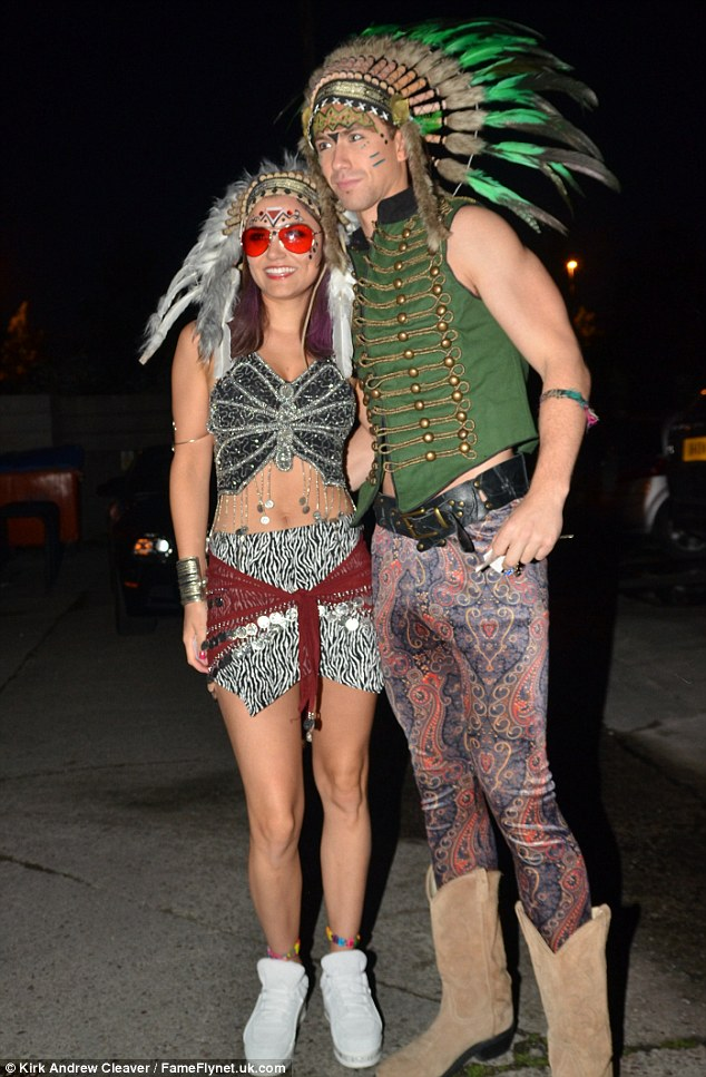 Samantha Bakrs And Boyfriend Richard Fleeshman Wear Native