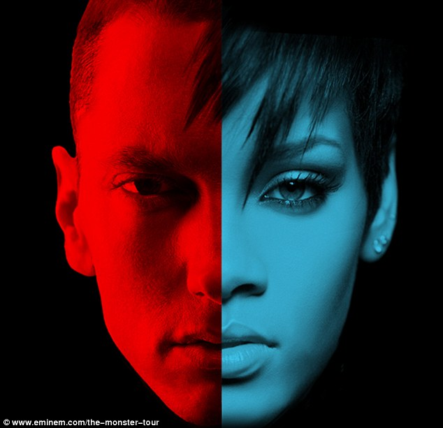 His hometown: After this weekend, Riri and rapper Eminem will next take their six-date summer tour to Michigan's Comerica Park in Detroit on August 22-23