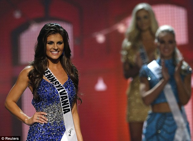 Advocate: Miss Pennsylvania 2014 Valerie Gatto, pictured, also mentioned sexual assault awareness throughout the competition. Gatto was conceived after her mother was raped at knifepoint