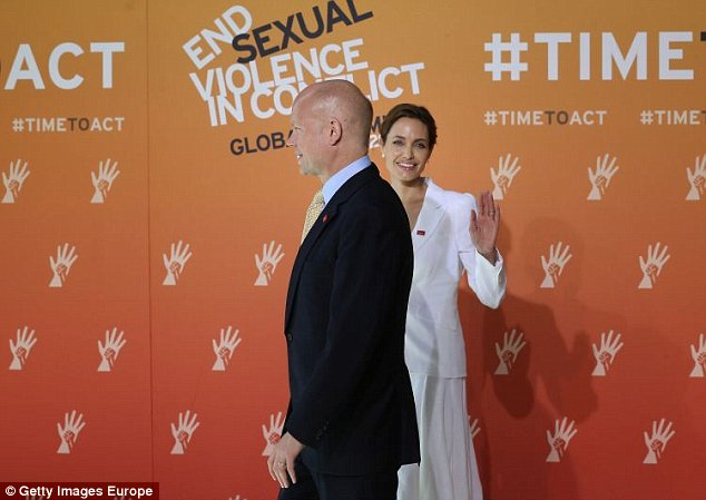 Angelina Jolie hopes the four-day summit will result in concrete steps to ban the use of sexual violence in conflicts