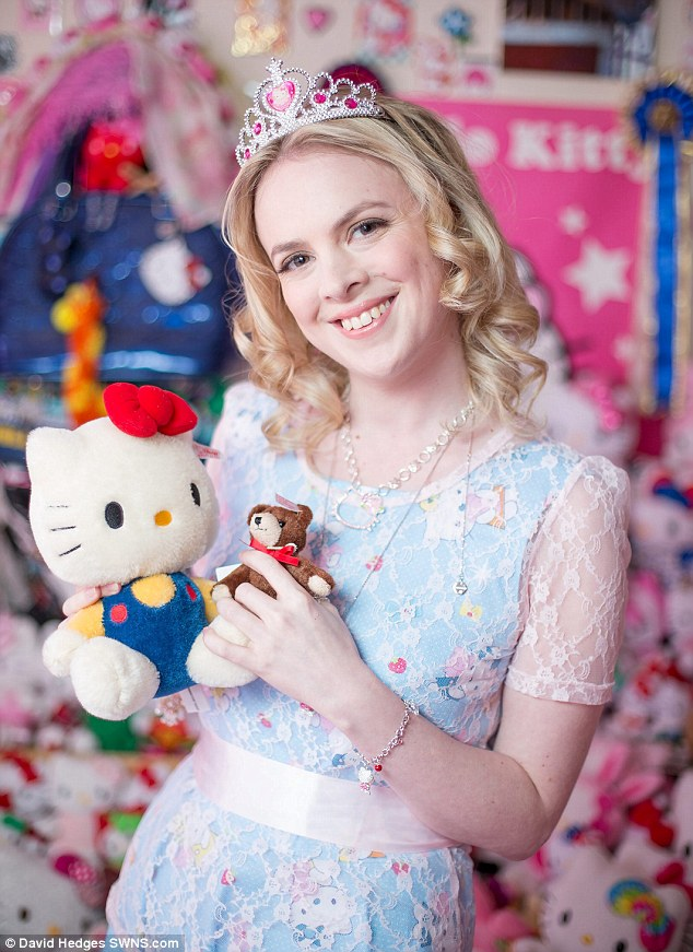 Hello Kitty obsessive spent has spent 50000 over 15 years collecting 10000 items  Daily Mail